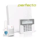 PERFECTA-32-WRL-pack-met-wit-bekabeld-LCD-bediendeel-draadloos-magneetcontact-en-draadloze-PIR